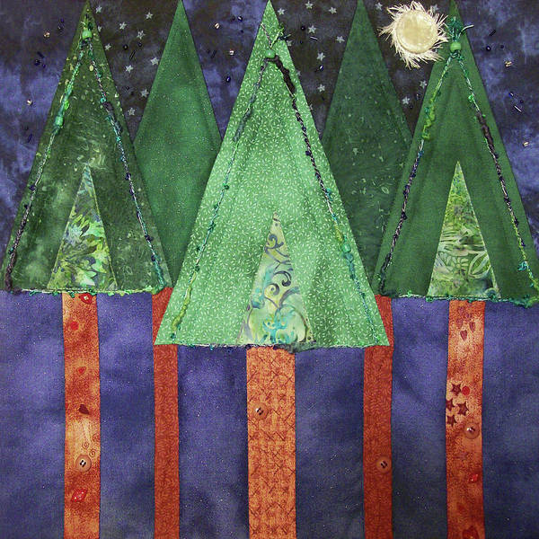 Tapestry - Textile - My Love Is A Pine Tree by Pam Geisel