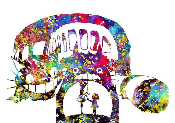Totoro Digital Art - My Neighbor Totoro by Erzebet S