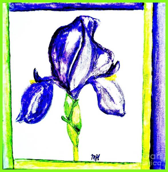 Wall Art - Painting - My Painted Iris by Marsha Heiken