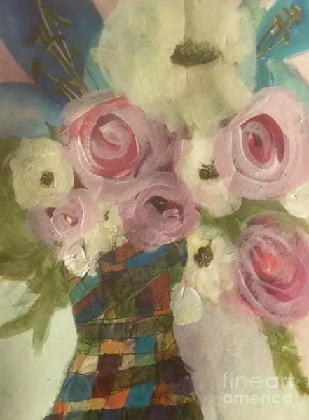 Painting - Vintage  Pink Roses by Sherry Harradence