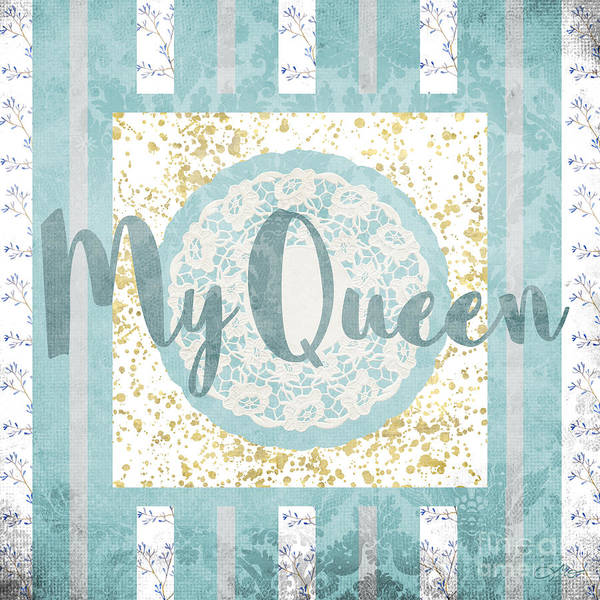 Wall Art - Mixed Media - My Queen by Mo T
