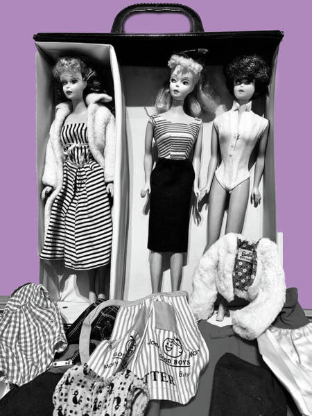 Photograph - My Sister's Barbies by Marilyn Hunt