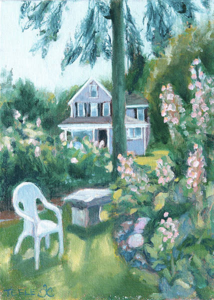 Painting - My Sister's Garden by Trina Teele