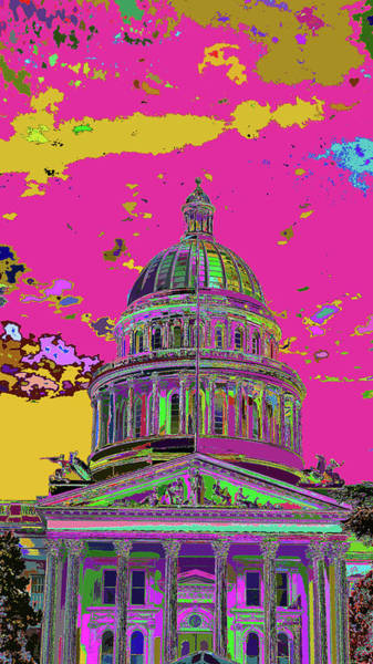 Photograph - My State Capital - Colorfication  by Kenneth James
