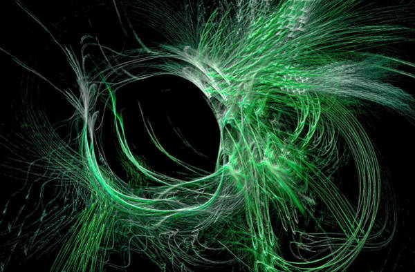 Digital Art - My Universe Abstract Green by Don Northup