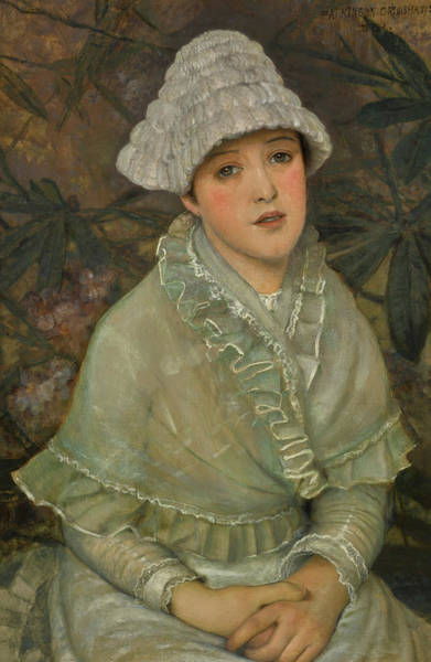 Child Actress Painting - My Wee White Rose, 1882 by John Atkinson Grimshaw