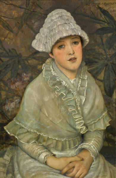 Wall Art - Painting - My Wee White Rose by John Atkinson Grimshaw