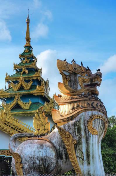 Lion Statue Photograph - Myanmar Chinthe by Thant Zaw Wai