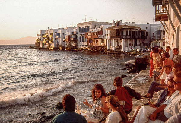 Wall Art - Photograph - Mykonos, Little Venice, Sunset by Dimitris Sivyllis