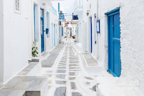 Mykonos Streetview, Greece Art Print