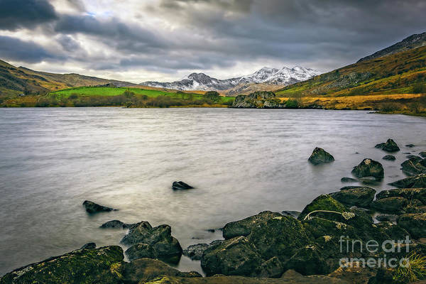 Photograph - Mymbyr Lake Snowdonia  by Adrian Evans