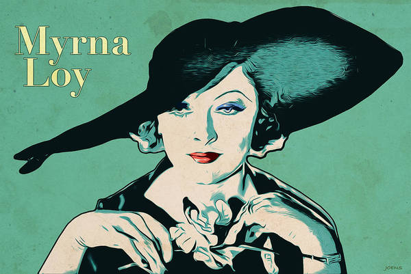 Wall Art - Digital Art - Myrna Loy by Greg Joens