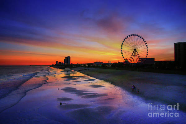 South Beach Digital Art - Myrtle Beach Boardwalk Sunset by Randy Steele