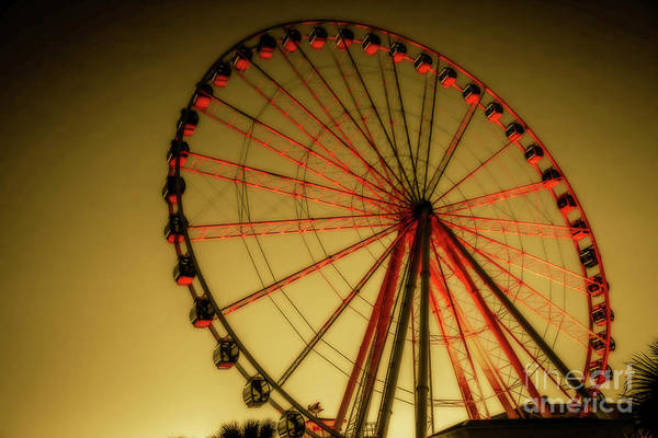South Beach Digital Art - Myrtle Beach Sky Wheel by Randy Steele