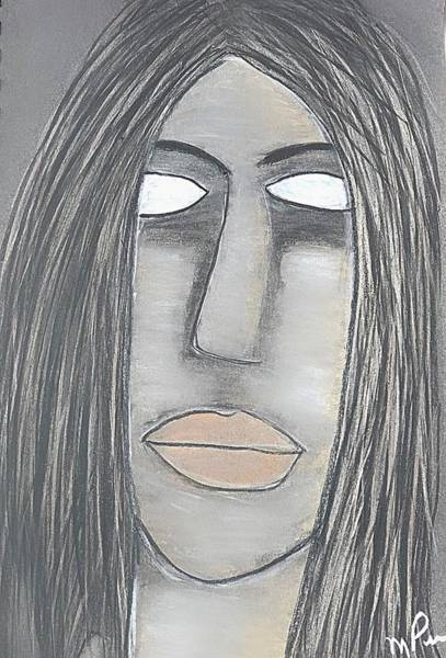 Drawing - Myself, Or My Brother by Mario MJ Perron