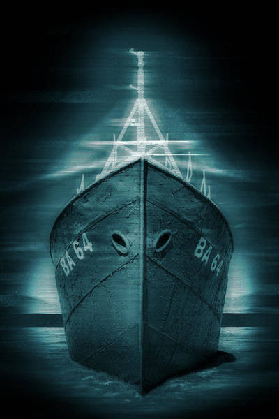 Wall Art - Digital Art - Mysterious Abandoned Ghost Ship In Iceland Holographic Glitch Art by Matthias Hauser
