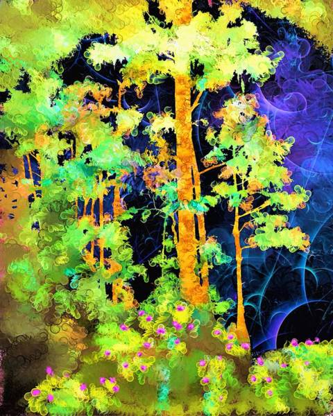 Wall Art - Painting - Mysterious Forest by ArtMarketJapan
