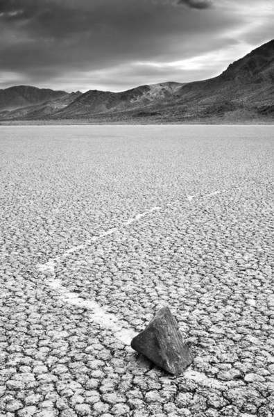 Racetrack Playa Photograph - Mysterious Moving Rocks At The by Enrique R. Aguirre Aves