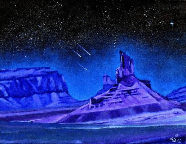 Star Formation Painting - Mysterious Sky by Rachel Beck