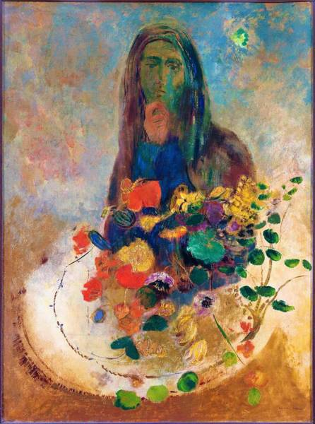 Wall Art - Painting - Mystery - Digital Remastered Edition by Odilon Redon
