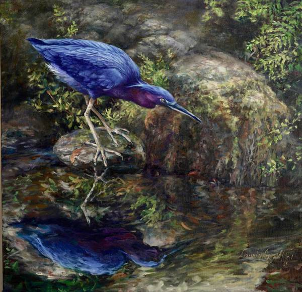 Ibis Painting - Mystery  by Laurie Snow Hein