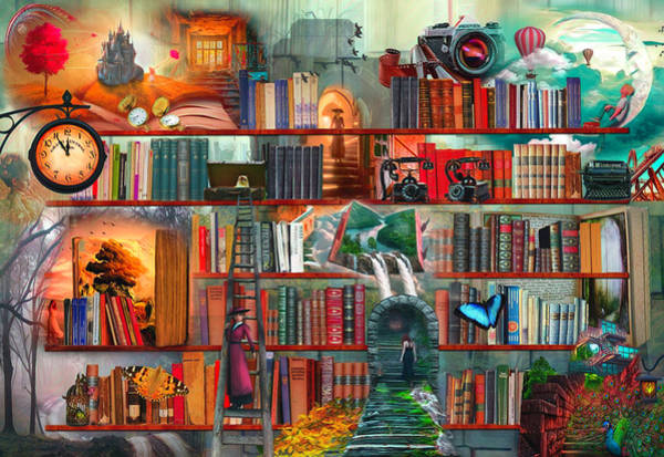 Digital Art - Mystery Writers Watercolors Painting by Debra and Dave Vanderlaan