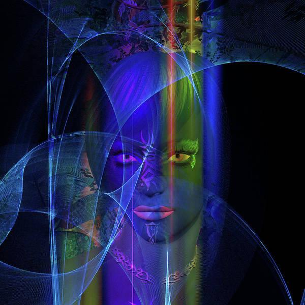 Digital Art - Mystic Alien Woman by Judi Suni Hall