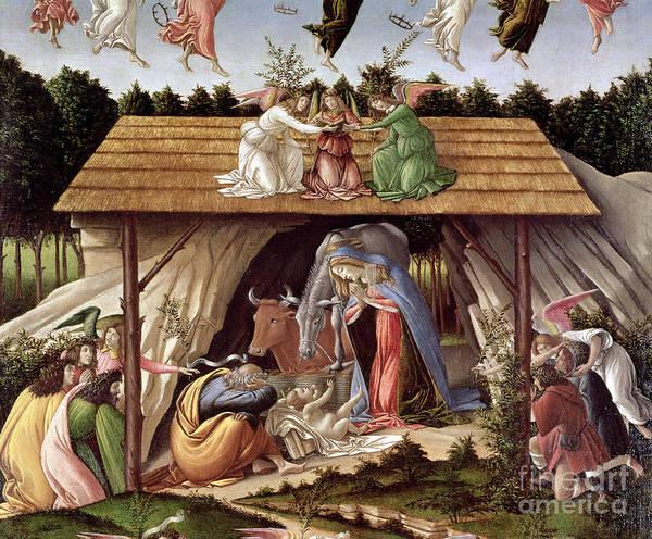 Wall Art - Painting - Mystic Nativity, 1500 by Sandro Botticelli