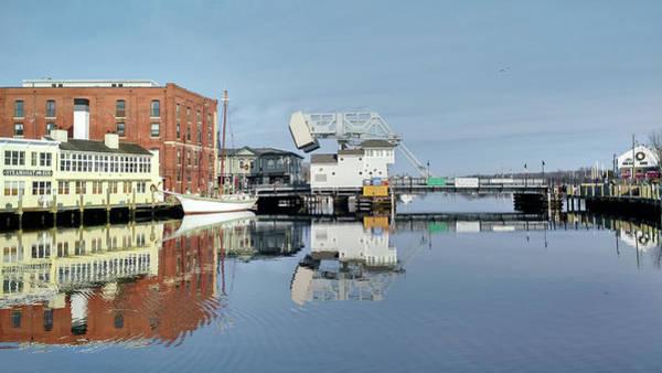 Photograph - Mystic River Drawbridge With Sailing Ship by Kirkodd Photography Of New England