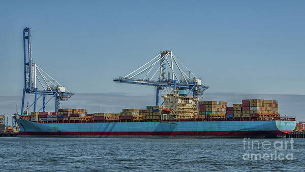 Photograph - Cargo Ship - Charleston Dockside by Dale Powell
