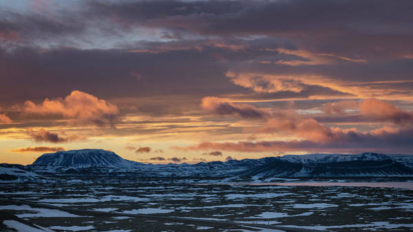 Photograph - Myvatn Iceland Sunrise by Joan Carroll