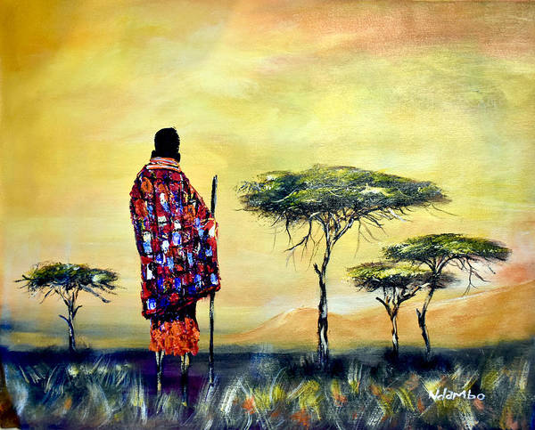 Painting - N-214 by John Ndamabo