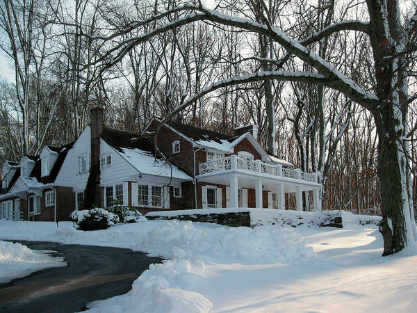 Mohican Photograph - N. C. Wyeth Home In Winter by Gordon Beck