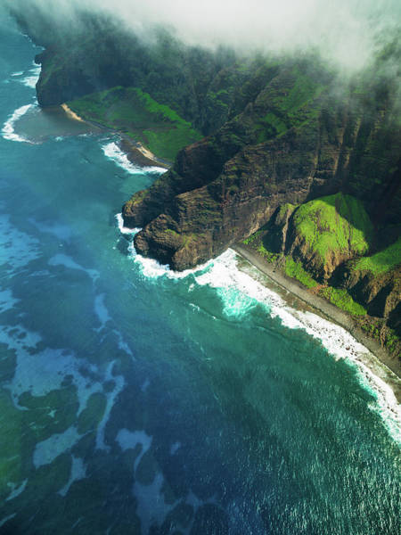 Object Photograph - Na Pali Coast Kauai Island Hawaiian by Mlenny
