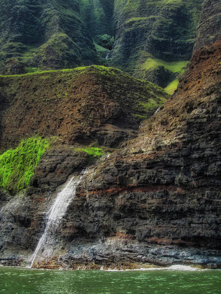 Photograph - Na Pali Coast Waterfall by Andy Konieczny