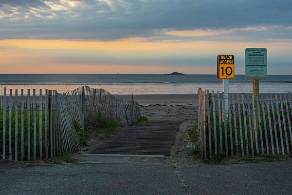 Photograph - Nahant Beach Access 10 To Egg Rock Nahant Ma Sunrise Walkway by Toby McGuire