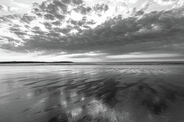 Photograph - Nahant Beach Sunrise Reflection Nahant Ma Black And White by Toby McGuire