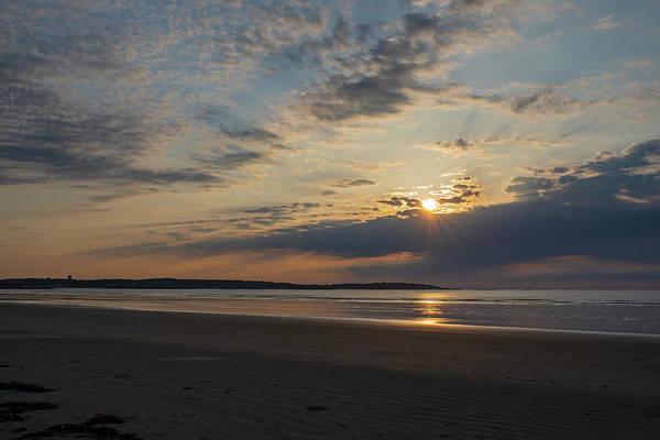Wall Art - Photograph - Nahant Beach Sunrise Sunrays Nahant Ma by Toby McGuire