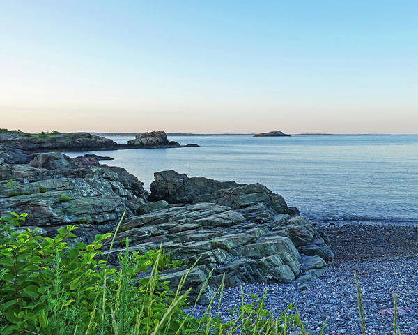 Photograph - Nahant Ma Rocky Coastline Canoe Beach Egg Rock by Toby McGuire