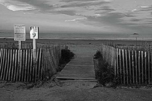 Wall Art - Photograph - Nahant Sunset Beach Access 9 Nahant Ma Nahant Beach Black And White by Toby McGuire