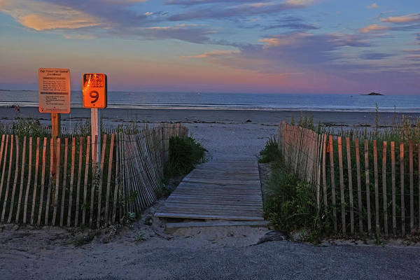 Photograph - Nahant Sunset Beach Access 9 Nahant Ma Nahant Beach by Toby McGuire