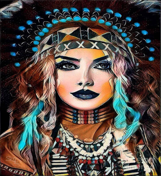 Digital Art - Nahimana The Sioux Indian by Swedish Attitude Design