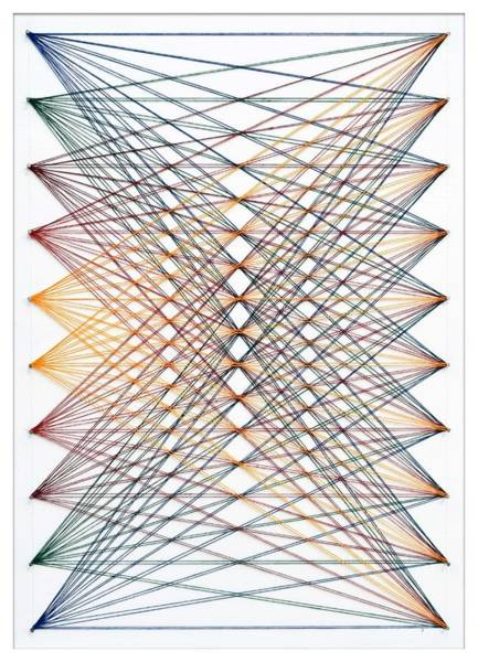 Thread Mixed Media - Nailed It Series No. 82 by Sumit Mehndiratta