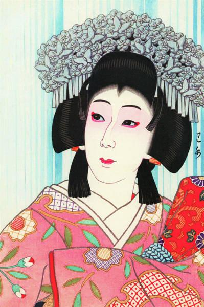 Wall Art - Painting - Nakamura Shikan As Yukihime - Digital Remastered Edition by Kawase Hasui