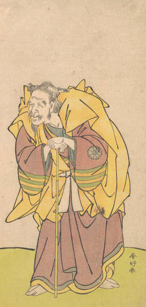 Relief - Nakamura Tomijuro As An Old Man With A Scanty Beard by Katsukawa Shunko