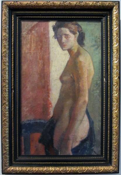 Wall Art - Painting - Naked  by Arturo Gordon