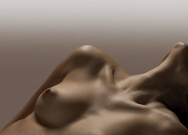 Naked Photograph - Naked Female, Female Breast, No Face by Jonathan Knowles
