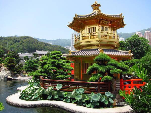 Chinese Pavilion Photograph - Nan Lian Garden Pavilion by Brandon Rosenblum
