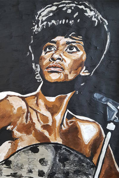 Painting - Nancy Wilson by Rachel Natalie Rawlins