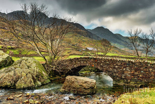 Wall Art - Photograph - Nant Peris Bridge Snowdonia by Adrian Evans